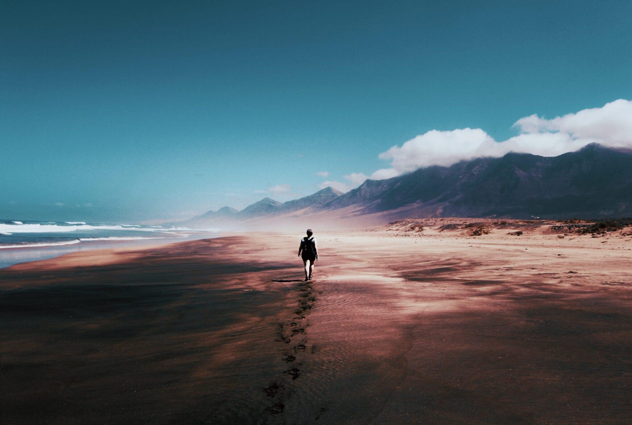 Spaziergang durch den Sand