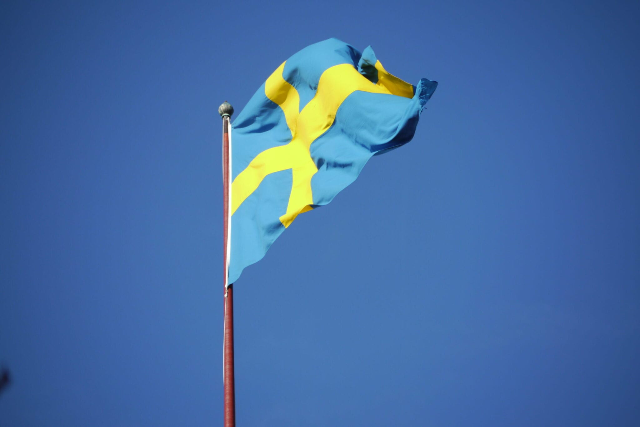 Flagge blau-gelb